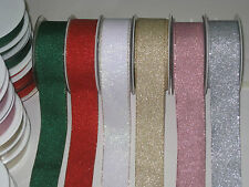 Glitter Ribbon, Birthday,Wedding gift wrap,Bows and Scrapbooking ,6 Pretty color