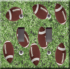 Light Switch Plate Cover - Football field surface with ball - Sport club game