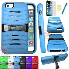 High Impact Armor Rugged Rubber Kickstand Case Cover 4.7 inch for Apple iPhone 6