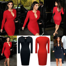 NEW Womens Wear To Work Party Tunic Stretch Bodycon Pencil Dress Cocktail Party