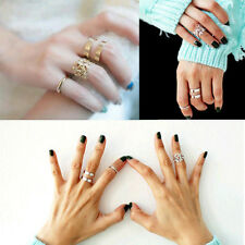 Midi Finger Ring Set Silver Gold Stack Above Knuckle Band Cute Gift Rings 3pcs