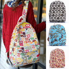 OWL Printing Backpack Travel Bags Cartoon Canvas School Backpack For Girls