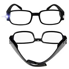 New Mens Womens Reading Glasses Plastic Frame With Dual LED Light with batteries