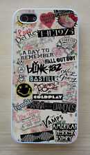 Vintage Floral 5SOS, Arctic Monkeys, Music Collage Case For iPhone 4/4S 5/5S,5C,