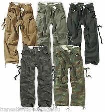 SURPLUS VINTAGE  FATIGUE COMBAT TROUSERS US ARMY WORKWEAR CARGO PANTS OLIVE