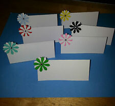 10 WEDDING NAME PLACE CARDS WITH 3D DAISY FLOWER WITH CRYSTAL