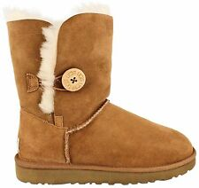 Ugg Australia Bailey Button Sheep Skin Boots Women CHESTNUT 5803