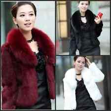 2014 New Fashion Winter warm Faux fox & rabbit fur coat jacket vest wrap shawl66