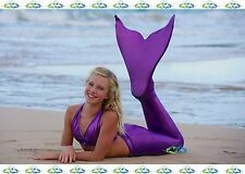 Swimmable Mermaid Tail Affordable, Fun, with Fin by the2tails Sparkle Purple
