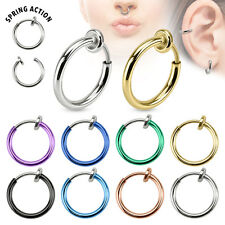 Septum Piercing Ring Fake Spring Piercing Silber Gold Helix Ohr Nasenpiercing