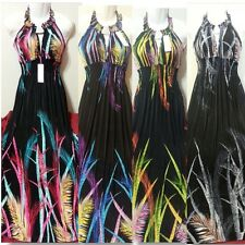Women Long Maxi summer beach party hawaiian Boho evening sundress S M L XL XXL