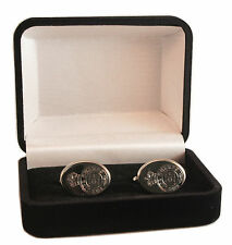 THE LIFE GUARDS REGIMENT CREST ENGRAVED CUFFLINKS, GOLD OR SILVER NEW