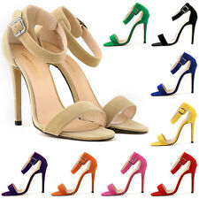 WOMENS FAUX VELVET PROM PARTY BRIDAL HIGH HEELS SHOES SANDALS FXC102-3 US4-11