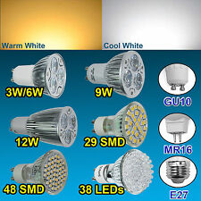 GU10/MR16/E27 29/38/48 SMD 3W 6W 9W 12W Warm Cool White Spotlight LED Lamp Bulb
