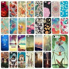 New Fashion Flower Painted Pattern Hard Case Cover For Apple iPhone 5 5S 5C 4 4S
