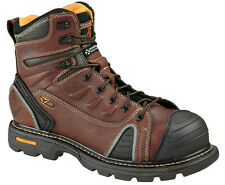 "Mens Work Boots Thorogood 6"" Composite Safety Toe Brown Leather (D, M) 804-4445"