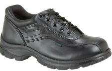 Womens Thorogood Double Track Oxford Shoes Black Leather Wide (C,D,W) 534-6908