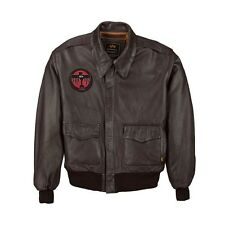 Alpha Industries A-2 Deco Goatskin Oiled-Leather Flight Jacket / Bomber