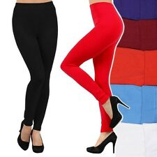 Brushed Fleece Lined Leggings Thick Warm Winter Stretch Pants ONE SIZE