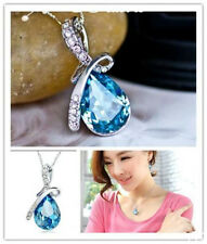 fashion New Girl's Women's Rhinestone Chain Crystal Necklace Pendant