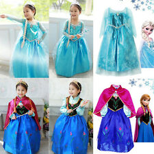 Frozen Princess Elsa Anna Kids Cosplay Costumes Party Girls Dress Clothes 3-8Y