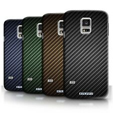 Phone Case Back Cover/Skin Sleeve for Samsung Galaxy S5 Mini Carbon Fibre Design