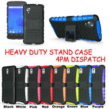 TOUGH HEAVY DUTY SHOCK PROOF STAND HARD CASE COVER FOR PHONES + SCREEN PROTECTOR