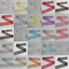 10 Yard Embroidered Net Lace Trim Ribbon 22 Color