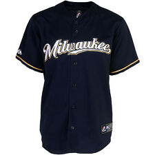 Majestic Athletic Milwaukee Brewers Jonathan Lucroy Replica  Road Jersey