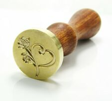 Custom Logo Vintage Gold Plated Wax Seal Stamp Date Letters Wedding Invitation