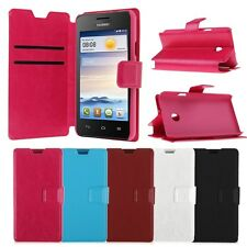 New PU Leather Wallet Case Cover Flip Stand Holder For Huawei Ascend Y330