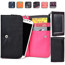 "Ladies Touch Responsive Wrist-let Wallet Case Clutch ML|B fits 5.0"" Cell Phone"