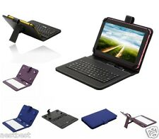 "Micro Keyboard Leather Case Cover For Mach Speed 7"" Trio Stealth G4 G2 Tablet"