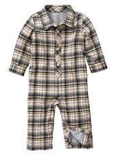 NWT BABY GAP BOY'S LINED PLAID ONE-PIECE 100% COTTON
