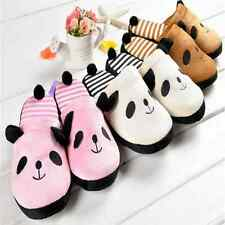 2014 Hot Home womens girls animal slippers Panda cute warm living room shoes 01