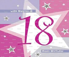 Happy 18th Birthday ~ Frosting Sheet Cake Topper ~ Edible Image ~ D5967