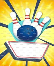 Bowling Birthday ~ Frosting Sheet Cake Topper ~ Edible Image ~ D1423