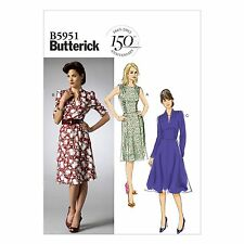 Butterick 5951 Easy to Make Retro Vintage Style 40s 50s Dress Pattern B5951