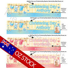 Baby Personalised Christening Baptism Naming Day Baby Shower Banner – Add y...