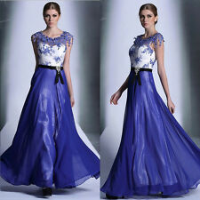 2014 New Lady Long Chiffon Bridesmaid Evening Formal Party Ball Gown Prom Dress