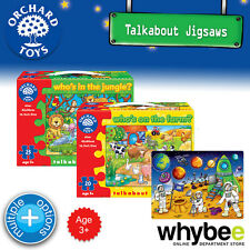 New! Orchard Toys Talkabout First Jigsaws Puzzles - British Kids Childrens 3yrs+