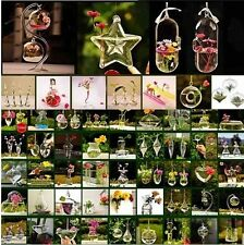 Glass Flower Plant Stand / Hanging Vase Hydroponic Container Home Wedding Decor