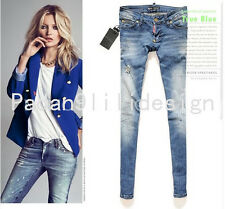 DSQUARED2 Paint points Was Thin  Womens Pencil Pants Feet Pants Jeans