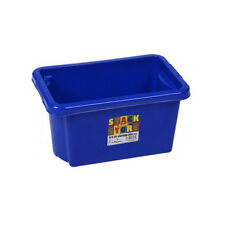 Stack & Store Stackable Strong Plastic Storage Boxes 6.5L Blue Toys. Craft Tools