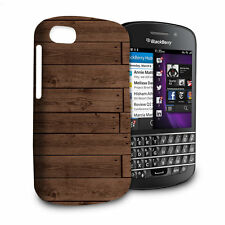 Reclaimed Floorboards Wood Pattern Phone Hard Shell Case for BlackBerry Q10 Z1..