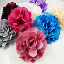 Stock Flowers Brooch Hair Pins Clips Shoes Accessory Decoration Silk Lace
