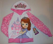 SOFIA THE FIRST Toddler Girls 2T 3T 4T 5T Sweatshirt HOODIE Coat DISNEY Princess