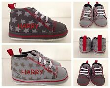 Funky Baby Boy PERSONALISED star trainers/shoes/ ANY NAME unique Xmas present