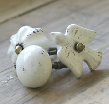 Nkuku Talia Ceramic Door Drawer Cupboard Knob Rustic - Bird, Flower or Ball