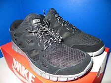 NIKE Free Run+2 Black Silver Speckle Mens Running Shoes 537732-001 All Sizes